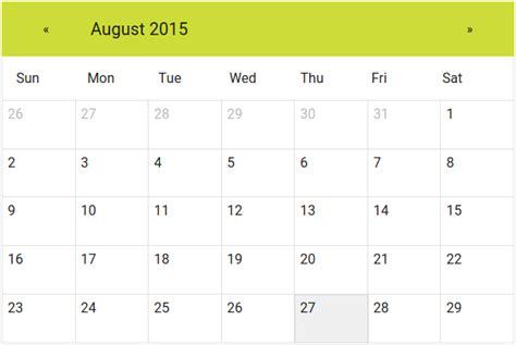 angularjs material calendar directive angular script
