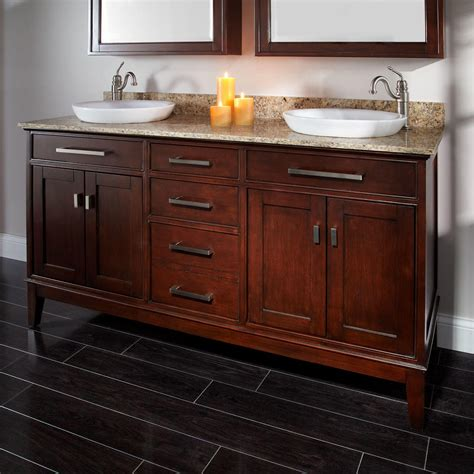 bathroom sink lighting 60 quot light espresso madison double vanity for semi recessed sinks