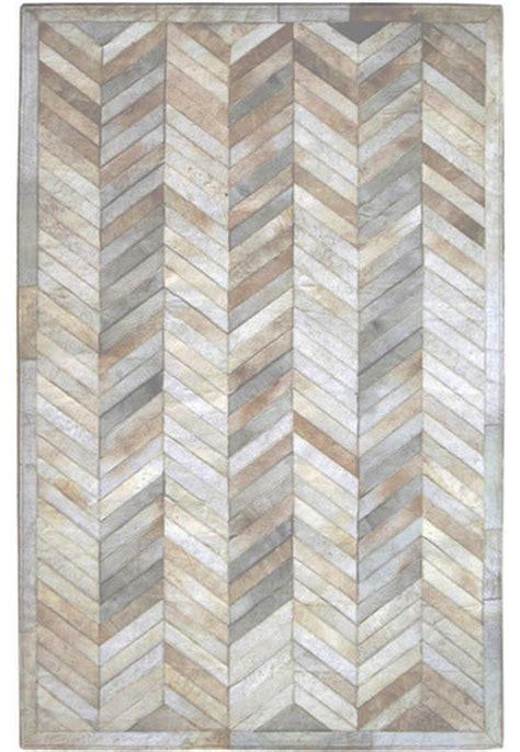 herringbone area rug 6 x9 madisons ivory herringbone pattern cowhide