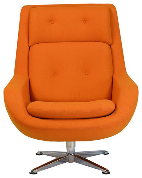 Armchair Commander by Commander Swivel Chair Orange Modern Armchairs And