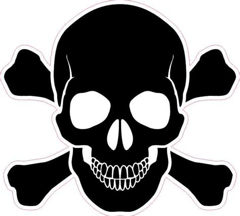 Aufkleber Totenkopf Schwarz 5in x 5in black skull and crossbones bumper sticker vinyl