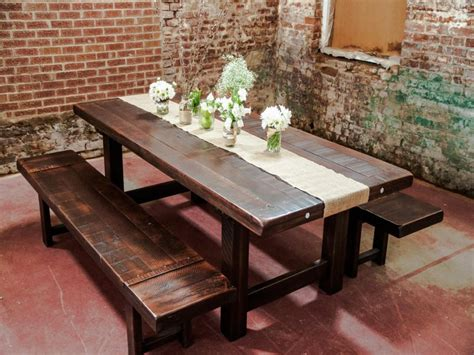 plank dining room table dining room table suitable for a restaurant or cafe