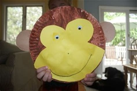 Monkey Paper Plate Craft - monkey craft idea for crafts and worksheets for