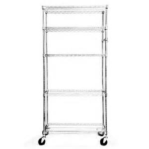 chrome wire shelving with wheels ecostorage 5 tier nsf 36 x 18 wire shelving rack