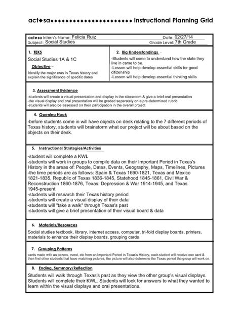 lesson plan template high school social studies ipg lesson plan mrs ruiz s 7th grade social studies class