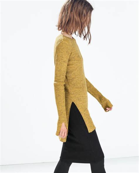 Fashion 91 Nc 1 ribbad tr 214 ja med slitsar i sidorna knitwear inspiration