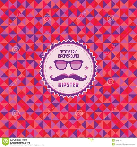 pattern hipster vector hipster geometric background 01 stock image image 31191331
