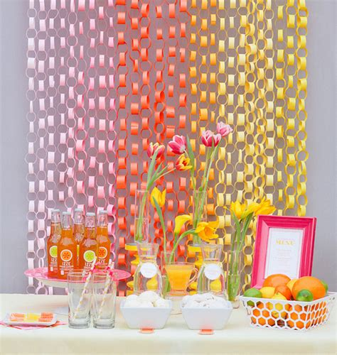 Paper Chain Decorations by One Pretty Pin Paper Chain Backdrop Chickabug