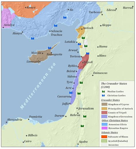the third crusade map crusade of 1197
