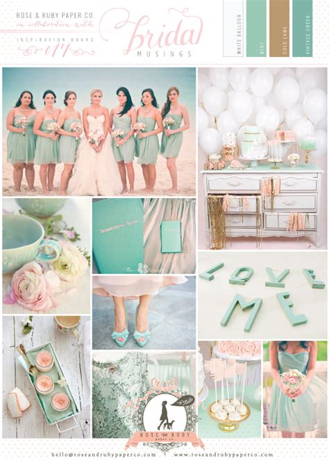 ruby wedding inspiration mint green teal and gold wedding peach and chagne wedding decor