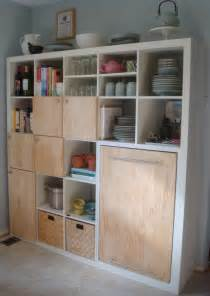 kitchen storage ideas ikea expedit kitchen storage and counter ikea hackers ikea