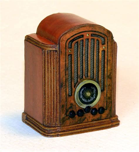 antique radio miniature radios dollhouse radios vintage miniature radios