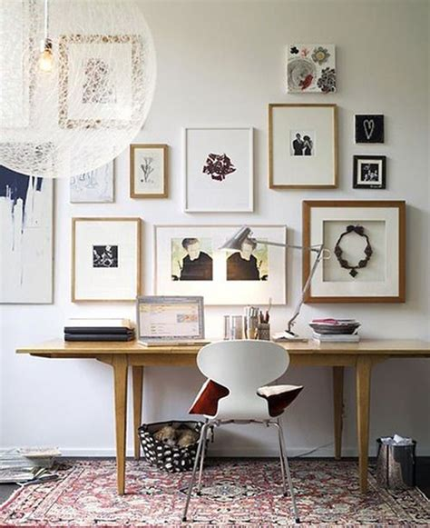 Home Office Wall Ideas | gallery wall home office ideas