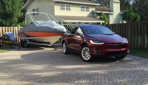 how well does the tesla model x ev work as a tow vehicle