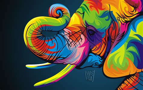 Colorful Vector Animals By Wahyu Romdhoni Art Spire Colorful Animal