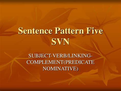 sentence pattern in english grammar ppt ppt sentence patterns powerpoint presentation id 5439787