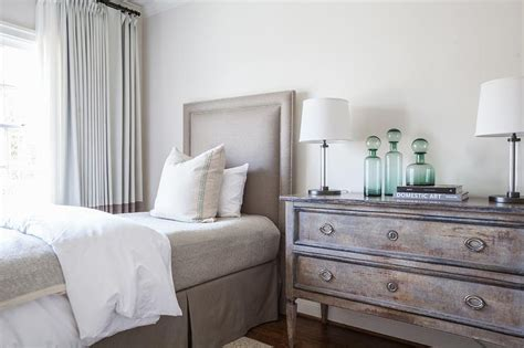 taupe bedrooms taupe and gray bedroom with bernhardt cabrillo nailhead