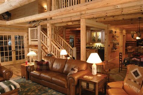 Wallpaper For Homes Decorating by Moose Log Homes Home