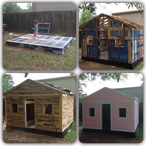 Pallet Play House by Pallet Playhouse Diy Pallet Playhouse Great Ideas