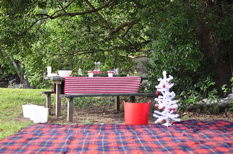 back yard barbque christmas picnic other outdoor decoration ideas be a