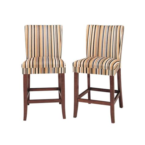 home decorators collection bar stools home decorators collection 24 in h striped upholstered