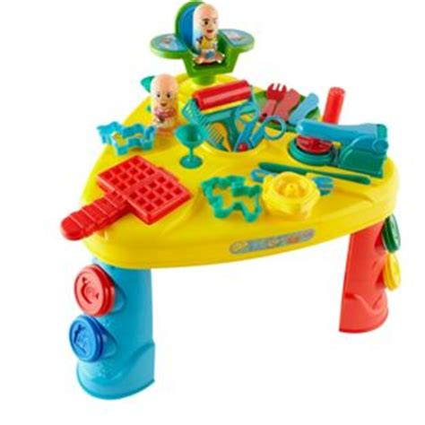 Play Doh Table by Chad Valley Mega Dough Table With 6 Pots Of Coloured Dough