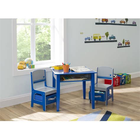 childrens table and chair set with storage delta children and storage table chair set ebay