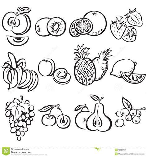 frutti free z price stylized fruit set on a white background stock vector