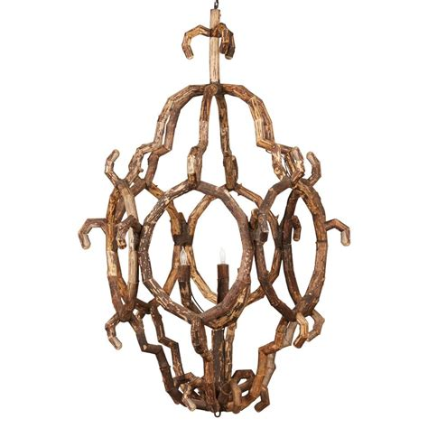 Lodge Chandelier Selous Rustic Lodge Abstract Driftwood 3 Light Chandelier Kathy Kuo Home