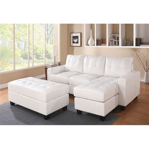 Acme Sectional Sofa Acme Furniture Lyssa Bonded Leather Sectional With Ottoman