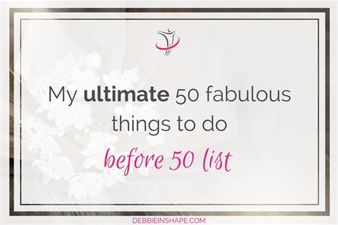 50 things to before a baby 50 things to parenting series book 1 books my ultimate 50 fabulous things to do before 50 list