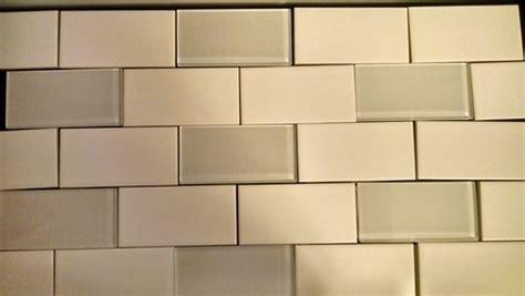 colored subway tile two color subway tile backsplash