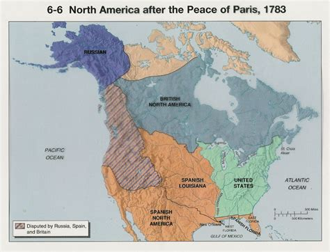 After America american territorial distribution after the peace of