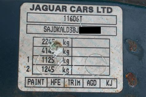 paint code sticker jaguar forums jaguar enthusiasts forum