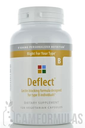 deflect 0 supplement deflect b 120 vegetarian capsules d adamo personalized