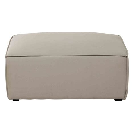 Sofa Pouffe by Cotton Modular Sofa Pouffe In Beige Colombus Maisons Du