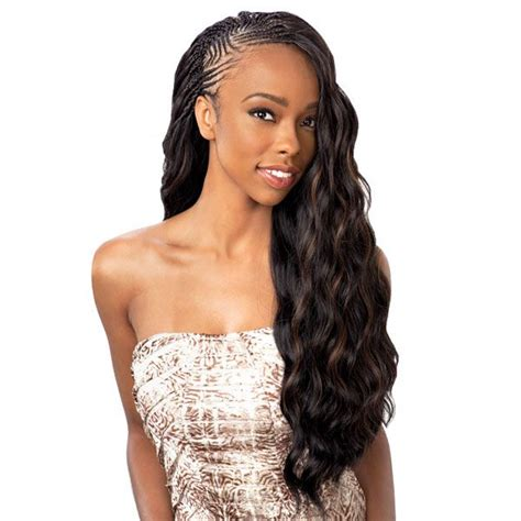 front braid nd back weavon styles glance synthetic braid soft wave 24 tree braids