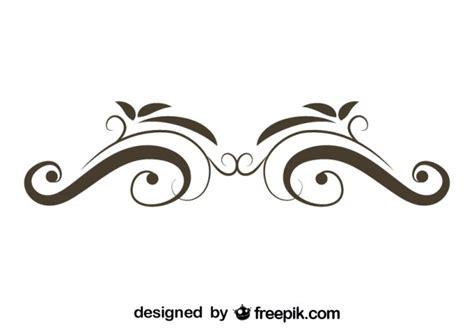 swirl logo pattern retro floral swirl stylish design vector free download
