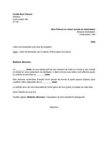 Demande De Préavis Lettre Lettre De Demande D Interruption De Pr 233 Avis Apr 232 S D 233 Mission Mod 232 Le De Lettre Gratuit Exemple