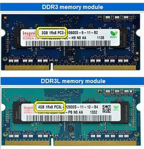 is ram the same as memory ddr3l vs ddr3 memory ram comparison