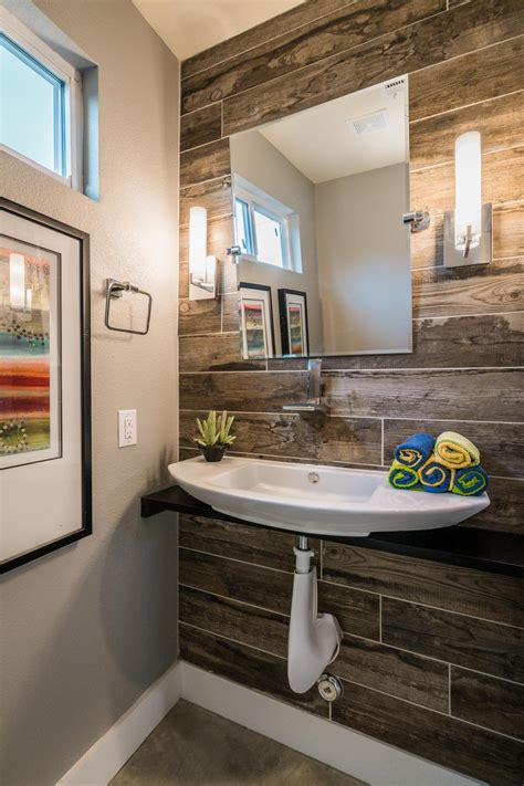 wood wall in bathroom photos hgtv