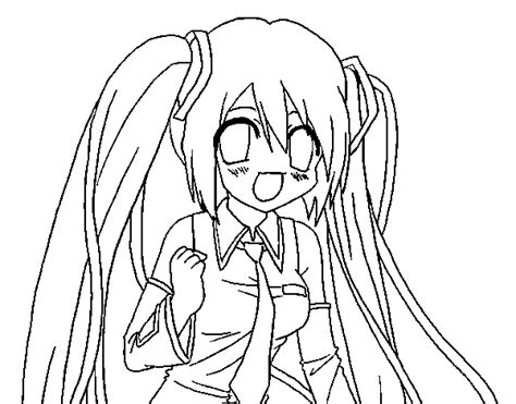 vocaloid coloring pages miku hatsune vocaloid coloring page