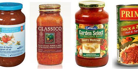 pasta sauce sodium in pasta sauce ranked