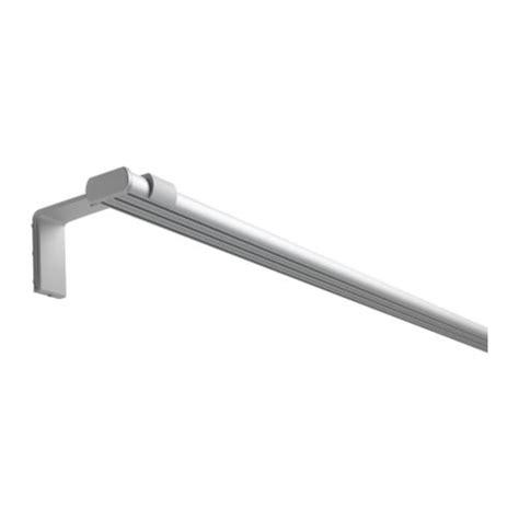 track curtain rod system kvartal triple track rail aluminium colour 140 cm ikea