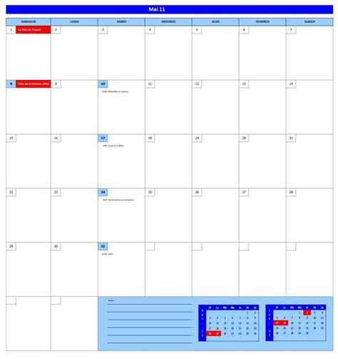Calendrier 2011 Excel Calendrier 2011 Gratuit Tableau Excel