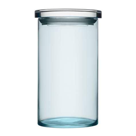 light blue jars iittala medium glass jar light blue clear lid storage