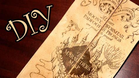 marauders map printable template card harry potter marauder s map diy