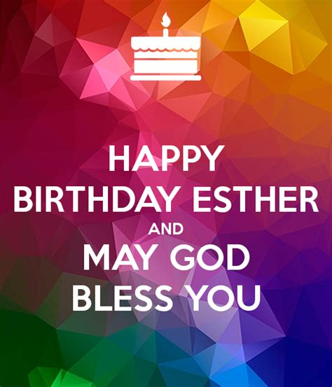 images for happy birthday god bless you happy birthday esther and may god bless you poster
