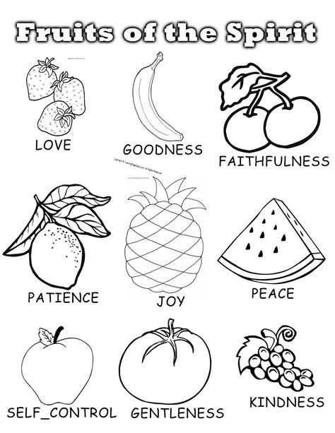 coloring pages fruits preschool fruit of the spirit coloring pages hd coloring pages