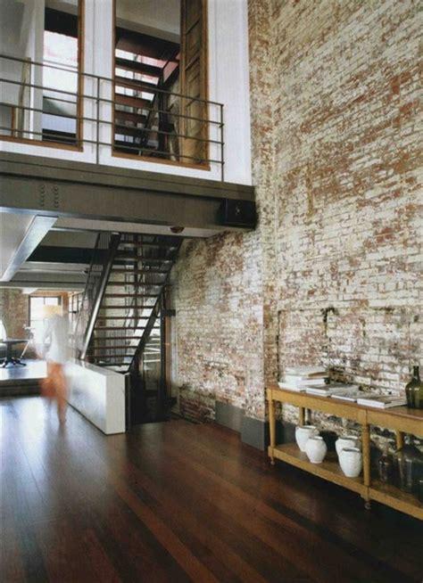 exposed brick apartments facebrick feature wall loft inversion industrial design architecture interior design